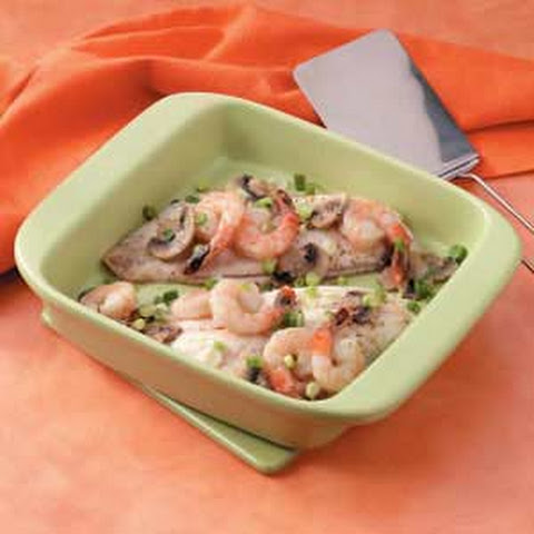 Shrimp-Topped Red Snapper