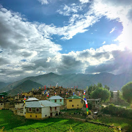 Village in Nako Spiti Valley by Rajat Sethi - Landscapes Travel ( landscapes himalayas india spiti village nature )