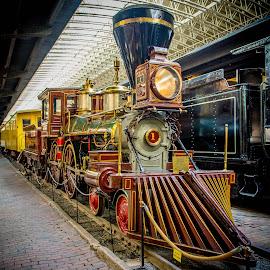 The W.R. Crooks Steam Locomotive by Gary Hanson - Artistic Objects Antiques ( passenger, duluth, steam locomotive, cowcatcher, minnesota, civil war, james hill, freight, w.r.crooks,  )