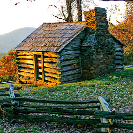 Log Cabin by David Walters - Buildings & Architecture Other Exteriors ( cabin, nature, blue ridge parkway, va, landscape )