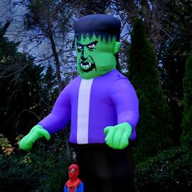 Frankenstein by Karen Carter - Public Holidays Halloween ( spiderman, frankenstein, lawn decor, halloween )