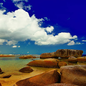 The Stone and The Sky by Heru S. Tyon - Landscapes Waterscapes
