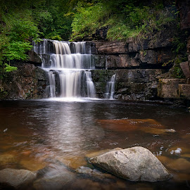 Summerhill Force by John Horner - Landscapes Waterscapes ( water, co.durham, waterfall, summerhill force )