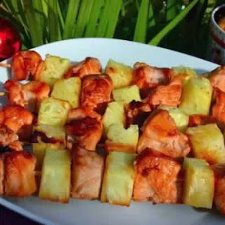 Skewers Of Chicken With Pineapple