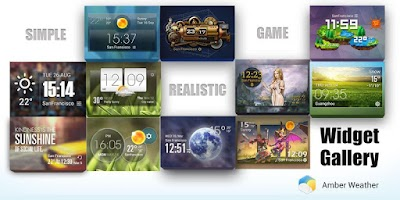 Screenshot of Japanese style clock & weather
