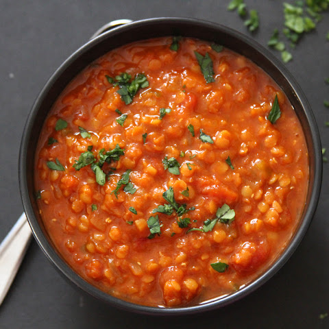 Indian Inspired Tomato and Red Lentil Soup