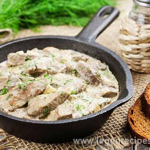 Stewed Liver In Sour Cream