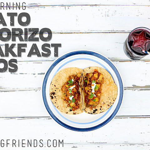 Potato and Chorizo Breakfast Tacos