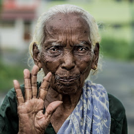 Old Woman by Naveen Joyous - People Portraits of Women ( wrinkles, woman, old woman, people, portrait )