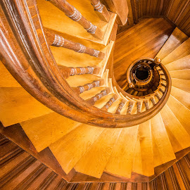 Fair haven Stairs by Carl Albro - Buildings & Architecture Architectural Detail ( stairs, wood, buildings, spiral, architecture )