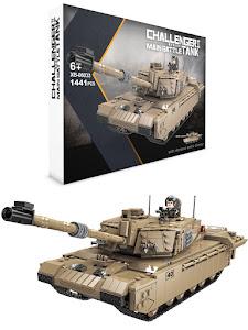 """Конструктор серии """"BrickBattle"""", современный танк Challenger 2, оливковый"""
