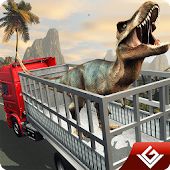 Angry Dino Zoo Transport Truck APK for Bluestacks