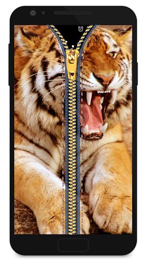 Zipper Lock Screen Tiger 2 screenshot 1