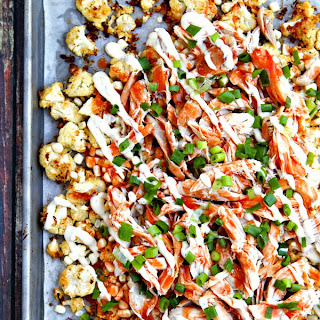 Buffalo Ranch Roasted Cauliflower Nachos