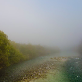 Foggy river by Vilma Ninin - Landscapes Waterscapes ( foggy, autumn, river )