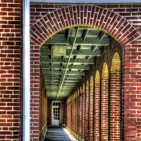 Walkway at the barracks by Jackie Eatinger - Buildings & Architecture Architectural Detail (  )