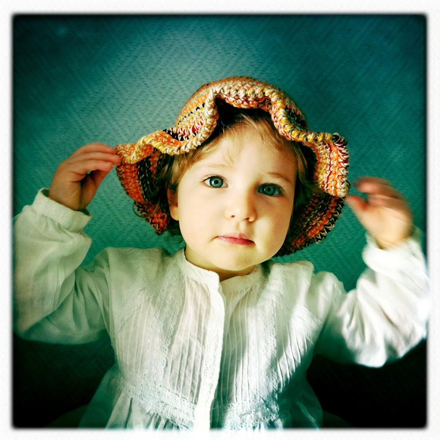 Look! I have a new hat! by Diana Calvario - Babies & Children Children Candids ( baby, iphone, hat )