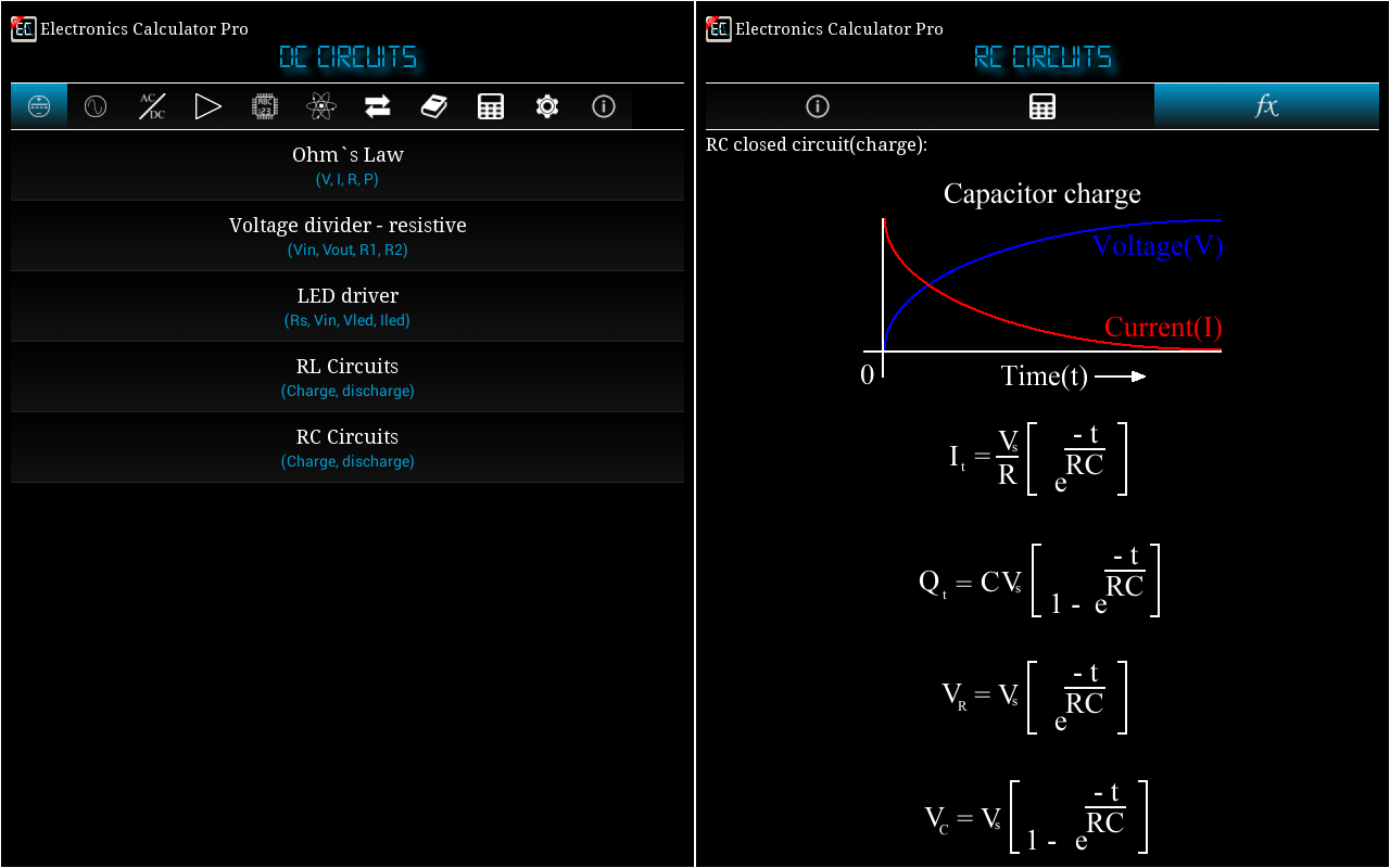 Electronics Calculator Pro Screenshot 9