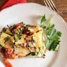 Grilled Zucchini and Tomato Cheese Bake