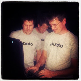 The Pixoto Team setting up for Boulder Beta by Justin Kifer - Instagram & Mobile Android ( boulderbeta )