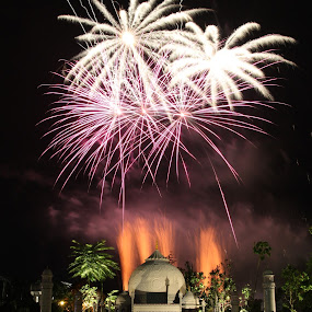 Taj Mahal Firework by ChengYang Kng - Abstract Fire & Fireworks ( firework, tajmahal, fireworks, lego )