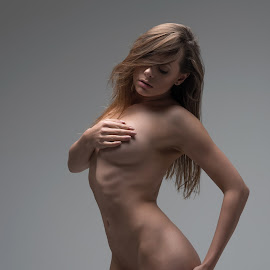 Love of beauty is taste, the creation of beauty is art ..... Ralph Waldo Emerson by Michael Guest - Nudes & Boudoir Artistic Nude ( nude, hidden, beautiful, hot, shape )