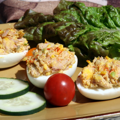Tuna-Stuffed Eggs