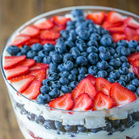 No-Bake Strawberry Blueberry Trifle