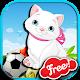 Funny soccer cat for kids