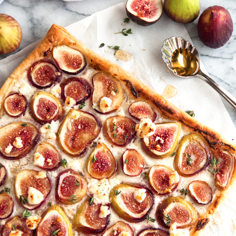 Fresh Fig, Mascarpone and Goat Cheese Tart