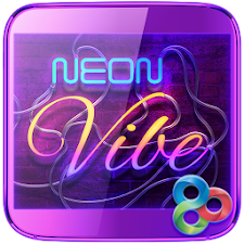 Neon Vibe GO Keyboard Theme