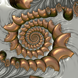 Spiral 12 by Cassy 67 - Illustration Abstract & Patterns ( modern, abstract, swirl, wallpaper, digital art, bubbles, fractalart, metallic, spiral, fractal, digital, fractals )