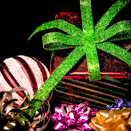 Presents and Bows by Anthony Balzarini - Public Holidays Christmas ( #presents, #decorations, #holiday, #photography, #bows, #christmas )
