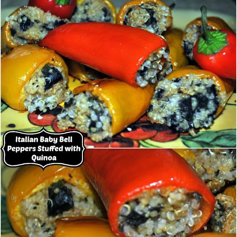 Mini Italian Kale and Quinoa Stuffed Peppers