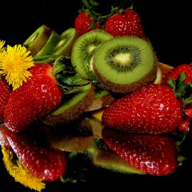 weed with fruits by LADOCKi Elvira - Food & Drink Fruits & Vegetables ( weed, fruits )