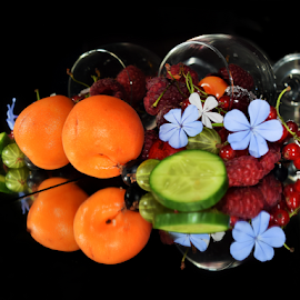 fruits,vegetables with flower by LADOCKi Elvira - Food & Drink Fruits & Vegetables