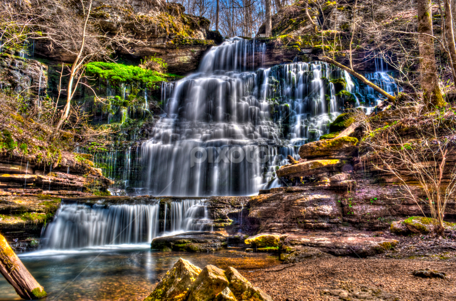 Machine Falls by Steve Rogers - Landscapes Waterscapes ( natures, waterfalls, cascade, creek, waterfall, tennessee, cascades, avalon-art.com )