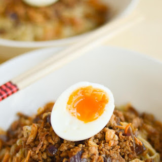 Mom's Minced Meat Noodles with Soft Boiled Egg