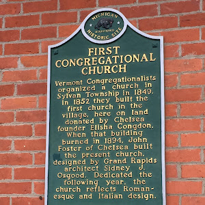 FIRST CONGREGATIONAL CHURCH  Vermont Congregationalists organized a church in Sylvan Township in 1849. In 1852 they built the first church in the village, here on land donated by Chelsea founder ...