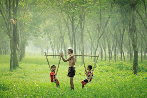 With Grandfather by Irvan Darmawan - Babies & Children Children Candids