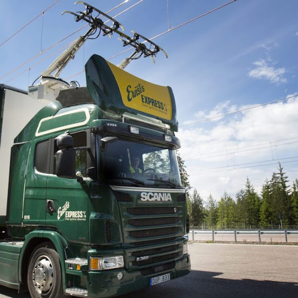 Scania electric highway in Gavle