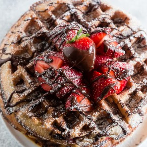 Chocolate Covered Strawberry Buttermilk Waffles