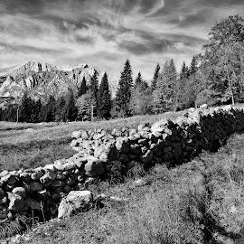 Trenta 1 by Bojan Kolman - Black & White Landscapes