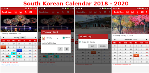 Korean dating calendar app