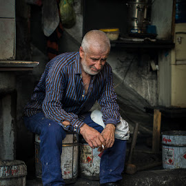 dokumcu by Yiğit Boylu - People Portraits of Men ( engine, dirty, worker, portrait, man )