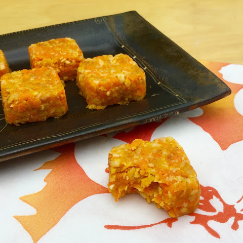 Carrot Cashew and Apricot Energy Squares