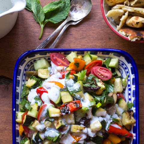 Grilled Fattoush Salad | #ProgressiveEats