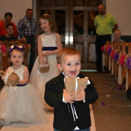 Coming down the aisle by Brenda Shoemake - Wedding Ceremony