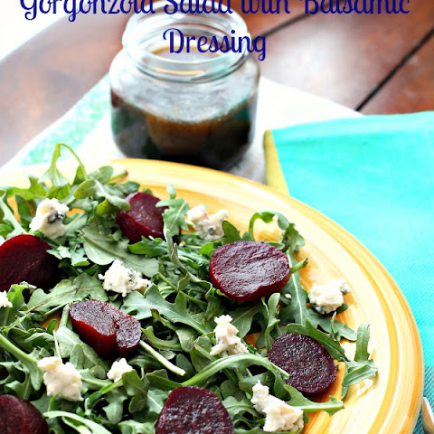 Baby Arugula,Beet and Gorgonzola Salad with Balsamic Dressing