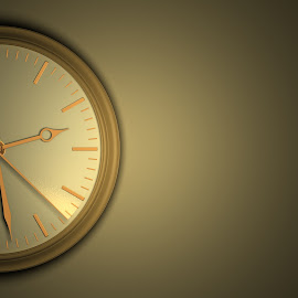 Time leaves without a delay, concept. by Alexey Romanenko - Illustration Business ( face, reminder, concept, lost, second, arrow, dial, leaves, run, urgency, minute, time, hurry, future, movement, ticking, instant, closeup, office, abstract, fleeting, symbol, vintage, clock, watch, hour, metaphor, background, prompt, passing, wall )